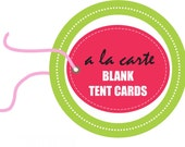 Printable BLANK TENT CARDS