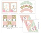 SHABBY CHIC BALLERINA Printables Package - Ballerina Party Printables - Ballerina Birthday Party - Girls Party