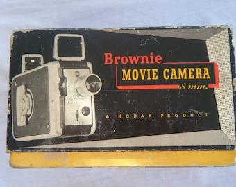 Vintage Camera Brownie Movie Camera  8mm