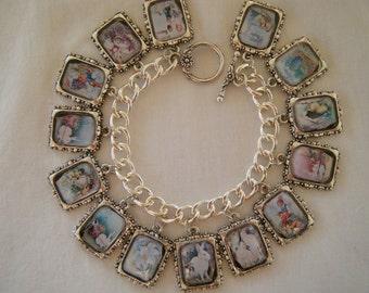 Vintage Easter 14 Charm Bracelet