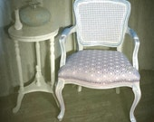 Cool Crystal Blue Skyline Vintage French Chair