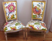 Sale Blooming Bamboo Vintage Side Accent Chairs