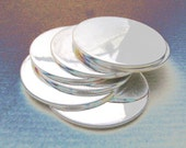Bulk 50 Blanks 1/2 Inch 24 Gauge STERLING SILVER DISCS Hand Stamping Disks Metal Circles Blank  Rounds