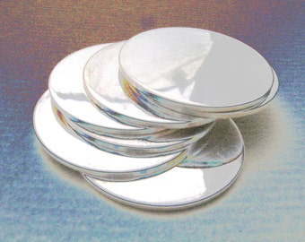 5/8 Inch 22 Gauge STERLING SILVER Discs Hand Stamping DISCS Metal Blanks Qty 10 Disks