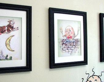 Wall Art, Nursery Decor, Nursery Rhyme, Prints, 8 x 10