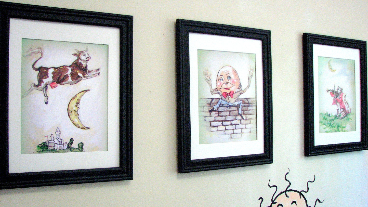 Wall art nursery decor nursery rhyme prints 8 x 10 for Room decor etsy
