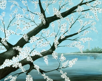 Cherry Blossoms Print of Original Painting