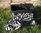 Custom Cruiser Covers - Zebra Print Reversible/Adjustable Basket liner - Will fit many basket sizes