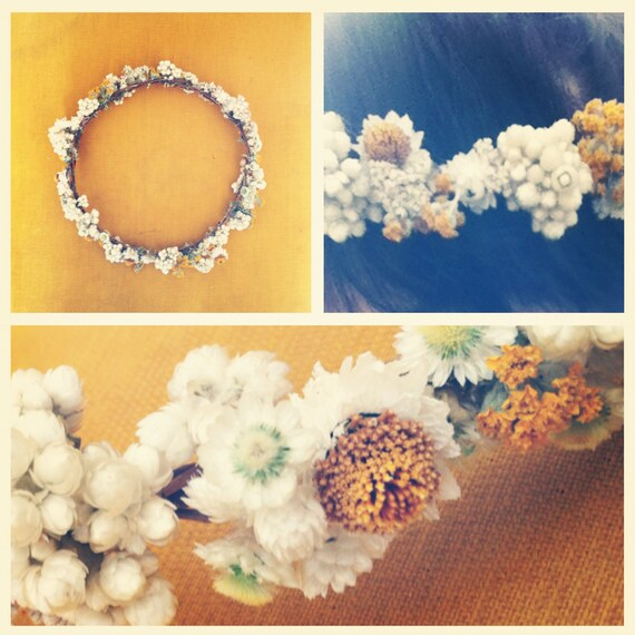 One of A Kind- Hand Picked Wildflower Crown- ready to ship