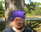 Handmade in the USA  crocheted Flapper hat For Artists Exposed