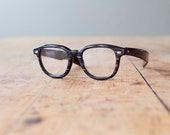 Vintage Charcoal Grey Liberty Clunker Spectacles