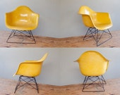 Eames Cats Cradle Arm Chair in Lemon Yellow for Herman Miller LAR Low Lounge