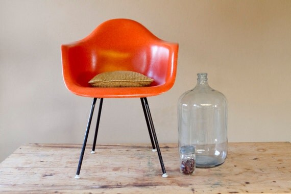 Eames Arm Chair In Orange for Herman Miller