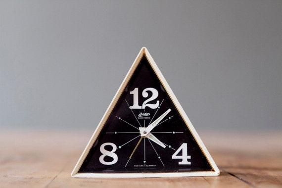 Rare Vintage Linden Black Forest Geometric Alarm Clock Made in West Germany