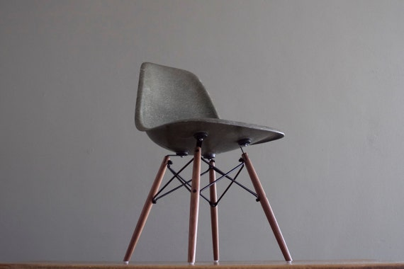 Forest Green Eames DSW Side Chair for Herman Miller Dense Vintage Fiberglass