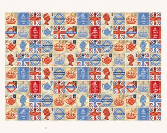SCRABBLE size VINTAGE BRITISH icons printable download  0.75 x 0.83in  MagentaBelle digital collage sheet  113