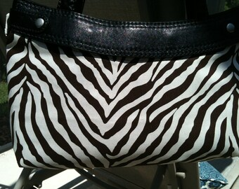Brown Zebra Stripe Skirt purse cover