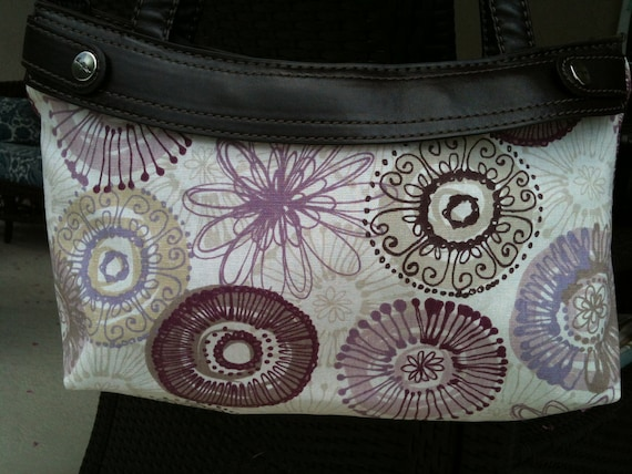 Thirty One Purse Cover - Purple Family medallions