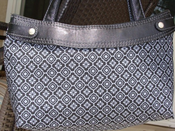 Black and Gray all over skirt purse cover Compatible with the Thirty-one brand purse Handmade