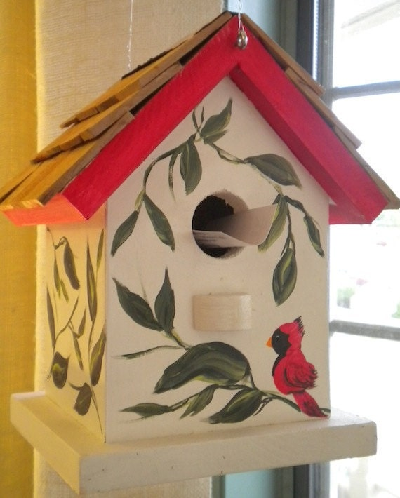 Hand Painting A Birdhouse