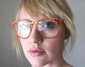 Vintage Orange Sherbet Tortoise Eyeglass Frames