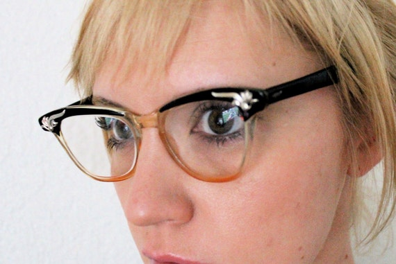 Vintage 50's B&L Black Cat Eye Glasses 50's/60's