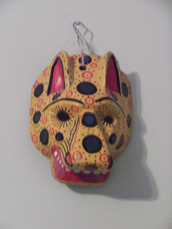 Authentic Mayan Tribal Jaguar Mask from Mexico