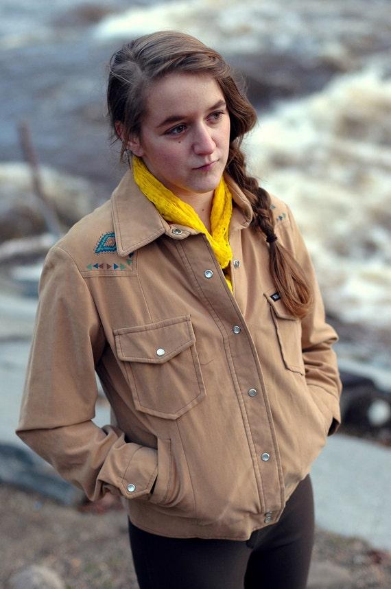Vintage 1970's William Barry Womens Jacket, Southwestern Style Brandon CO
