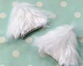Fluffy cat ear clips
