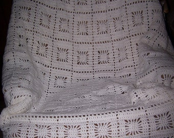 Snowflake Afghan, Snowflake Blanket, Mother's Day Gift, Couch Throw, Bed Throw Blanket, Throw Blanket, Home Decor, Birthday Gift