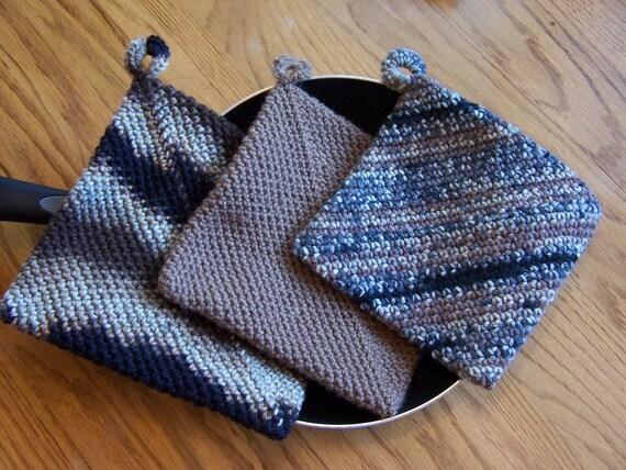 Potholders, Crochet Potholders, Trivets, Hotpads, Hot Pads, Housewarming Gift, Home Decor