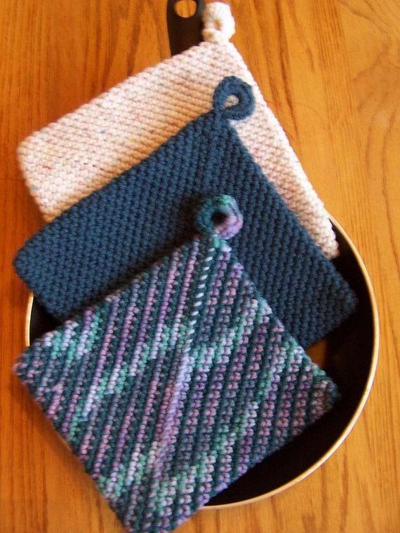 Crocheting Hotpads : Crochet Potholders, Hot Pads, Hotpads, Trivets, Housewarming Gift ...