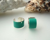 Colorful turquoise EAR CUFFS - so beautiful