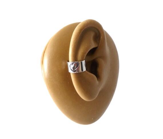 Swirly Heart Ear Cuff