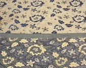 Reversible Black with Golden Floral Silk Brocade Fabric Fat Quarter India