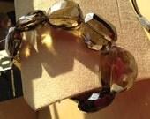 Smoky Crystal Stretch Bracelet