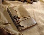 Manuscript - Leather Journal, Vintage Style, Skeleton Key