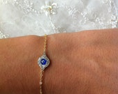 Gold Coated Evil Eye Bracelet
