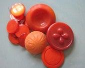Vintage buttons burnt orange