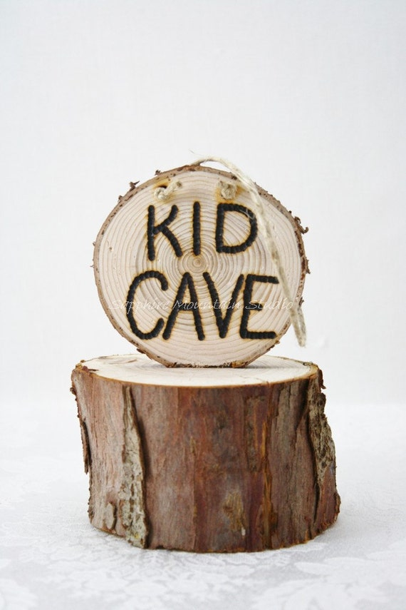 KID CAVE SLICE Sign, Child's Bedroom, Door, Children's, Kid Cave, Mini Man Cave