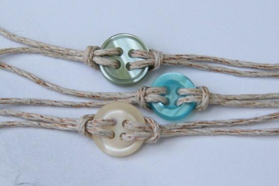 Button Bracelets--Sea Breeze Mix