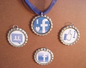 facebook image pendants with ribbon necklace - MIX 'N' MATCH