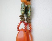 ethnic chic earrings orange fun colorful cheerful and pretty - EARRINGS JUNE - handmade with love