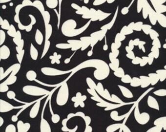 McKenzie Dena Designs Silhouette Black and White DF77 - 1/2 yard cotton quilt fabric 516
