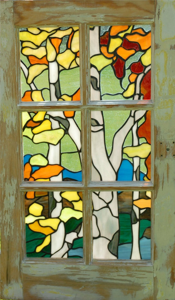 Stained Glass Birch Tree