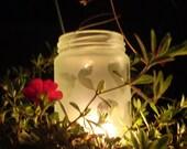Glass Tealight Candle Jar Holder