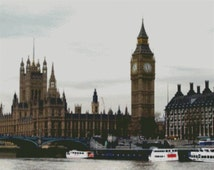 London - Big Ben Cross Stitch Pattern 002