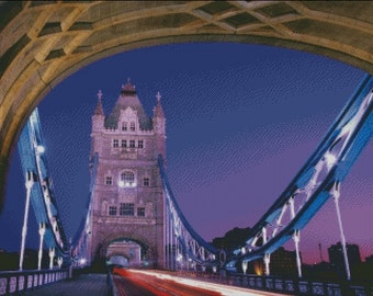 London Bridge Cross Stitch Pattern 001