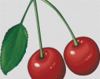 Cherries Cross Stitch Pattern 003