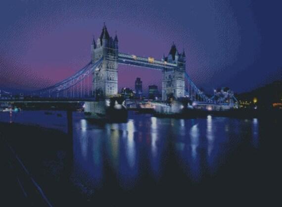 London Bridge Cross Stitch Pattern 006